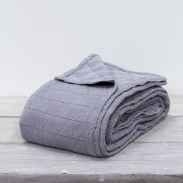 Slate Grey Diamond Throw