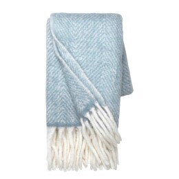 Wool Throw | Dusty Blue