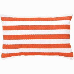 Trimaran Indoor/Outdoor Cushion (tangerine/white)