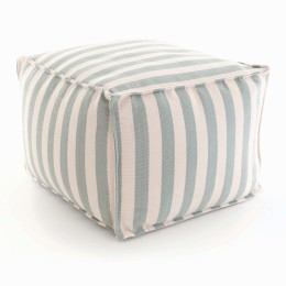 Trimaran Indoor & Outdoor Pouffe | Light blue/ivory