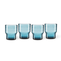 Tumbler Bubbles | Blue | Set of 4