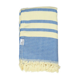 Turkish Cotton Throw | Blue