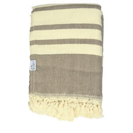 Turkish Cotton Throw | Mocha