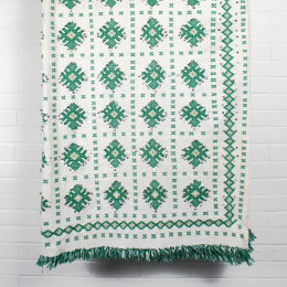 Vintage Moroccan Wedding Blanket | Green