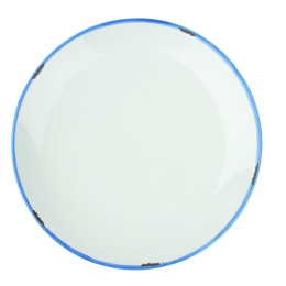'Tinware' Style White Dinner Plate