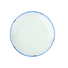 'Tinware' Style White Side Plate
