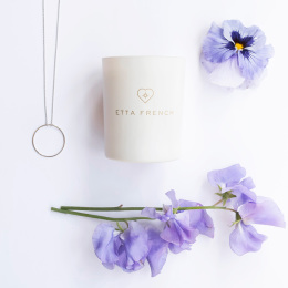 Violet & Sweet Pea Jewellery Candle