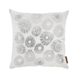 White Silver Urchin Cushion