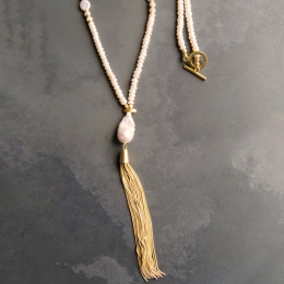 Wild Pearl Tassel Necklace