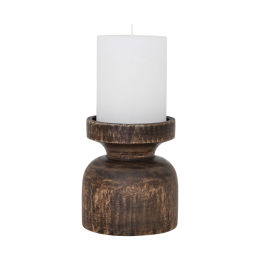 Wood Candle Holder (25cm)