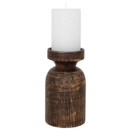 Wood Candle Holder (31cm)