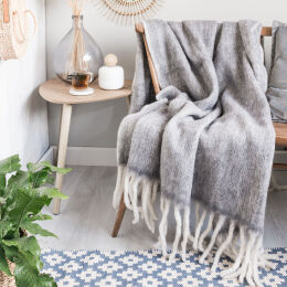 Wool Throw | Grey