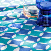 Moroccan Peacock Crosses Tablecloth by Georgia Bosson
