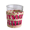 Reed Glass Tumblers | Multicoloured | Set of 6