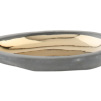 Small Charcoal Pebble Dish by Canvas Home | Gold