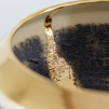 Textured Bowl with Gold Lustre