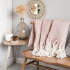 Wool Throw | Blush